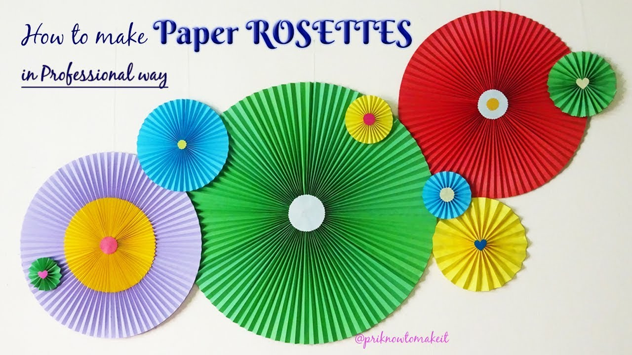 Paper Rosettes How To Make Paper Rosettes Diy Wall