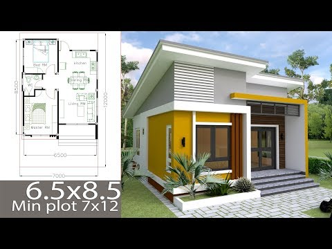 Small Home design Plan 6.5m with 2 Bedrooms
