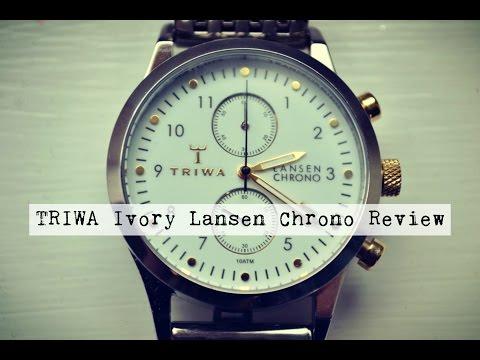 TRIWA Ivory Lansen Chrono Watch Review