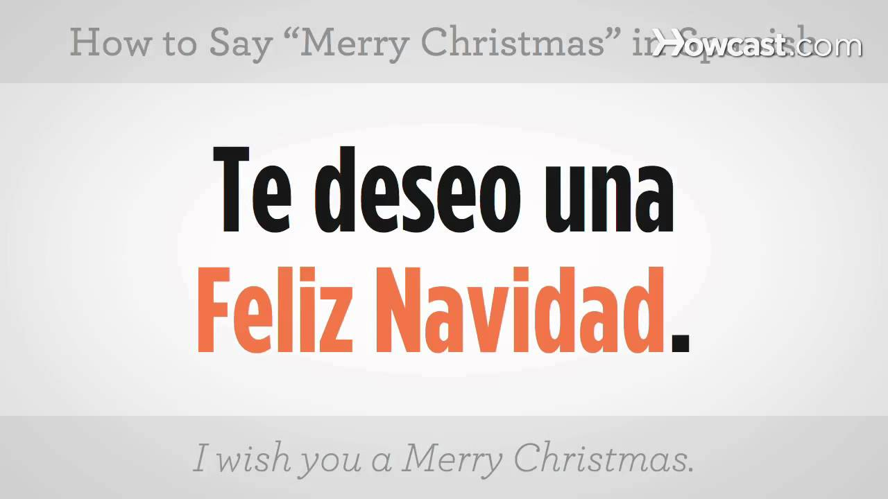 how to say merry christmas spanish lessons youtube - Merry Christmas In Greek Language