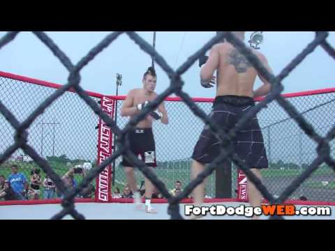 Neil Potter Wins (Fight #10) 2010 MMA Event at Mineral City Speedway in Fort Dodge