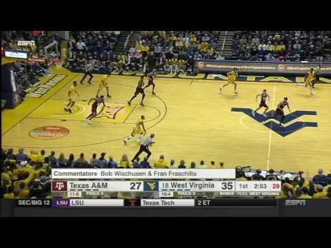 West Virginia vs Texas A&M | 2016-17 Big 12 Men's Basketball Highlights