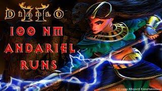 Diablo 2: 100 Nightmare Andariel Runs On /Players8 - Magic Find Results