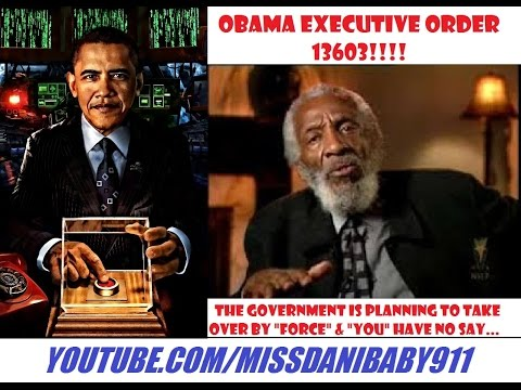 "DICK GREGORY: ""EXECUTIVE ORDER 13603"" Makes Us SLAVES!!!"