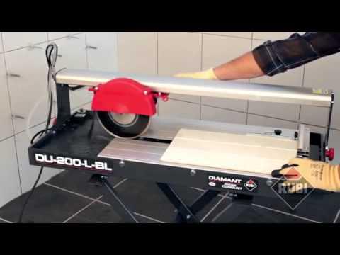 Плиткорез электрический RUBI DU-200-L-BL - YouTube