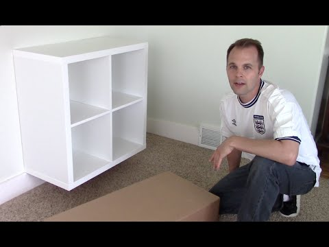 ikea-expedit-/-kallax-shelf---how-to-assemble-and-wall-mount-bookcase