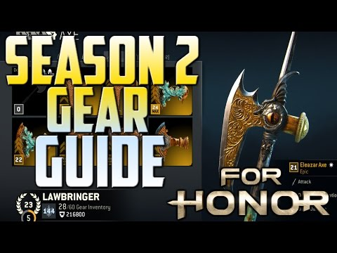 [For Honor] Season 2 Gear Stats Guide!