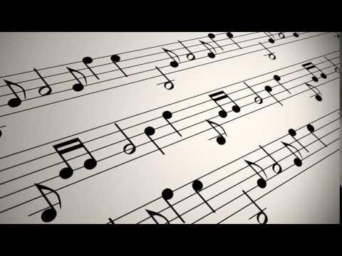 VIDEVO   Musical Notation Background Loop