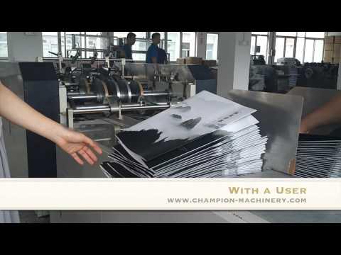 Paper shopping bag making machine-