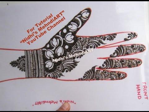 Modern Fashionable Arabic Henna Mehndi Design Tutorial With Lotus