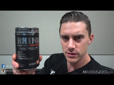 MuscleSport Rhino Black Series Pre-Workout Supplement Review - MassiveJoes.com Raw Review