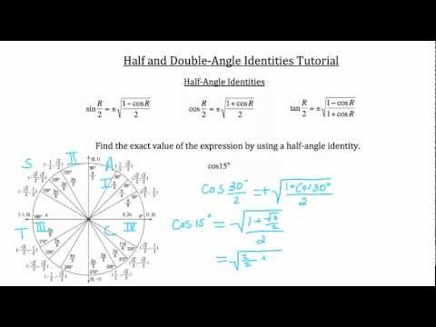 Half-Angle and Double-Angle Identities