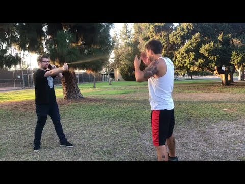 Justin Roiland Pepper Sprays Joey Salads in the Face