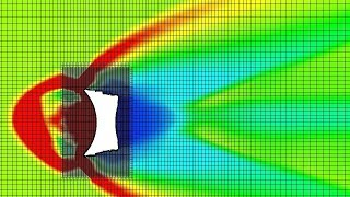 SolidWorks Flow Simulation - Concave Heatshield Capsule Smooth Heating Preview