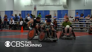 Wounded veterans find an outlet in wheelchair rugby