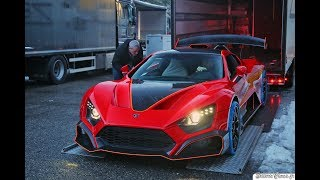 Zenvo TSR S - Startup - Driving & ACTIVATED WING