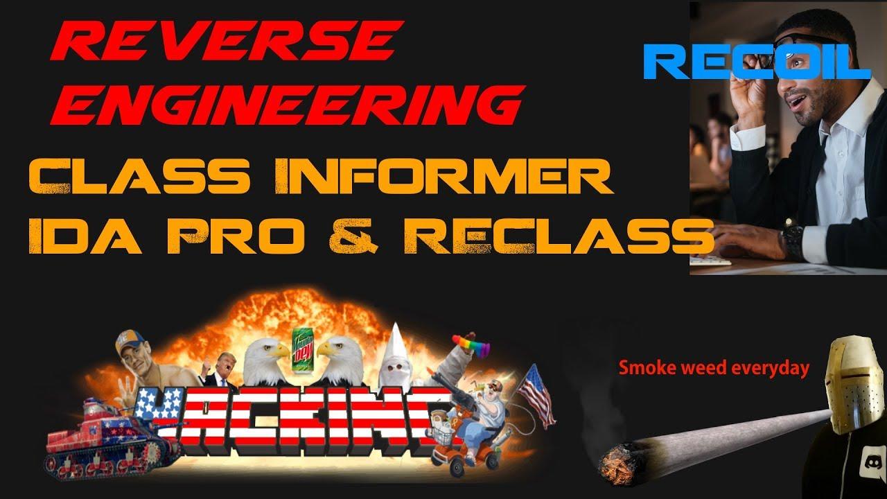 Reverse Engineering Tutorial No Recoil IDA Pro & ReClass