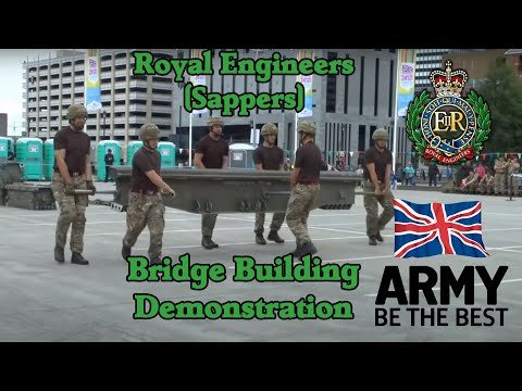 British Army – Royal Engineers bridge building demonstration (Sappers)