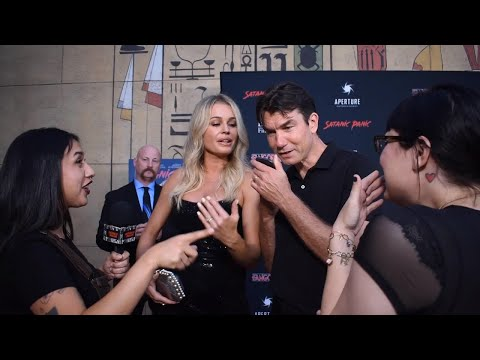 SATANIC PANIC RED CARPET: Talking With Rebecca Romijn, Jerry O'Connell, Ruby Modine, Lin Shaye...
