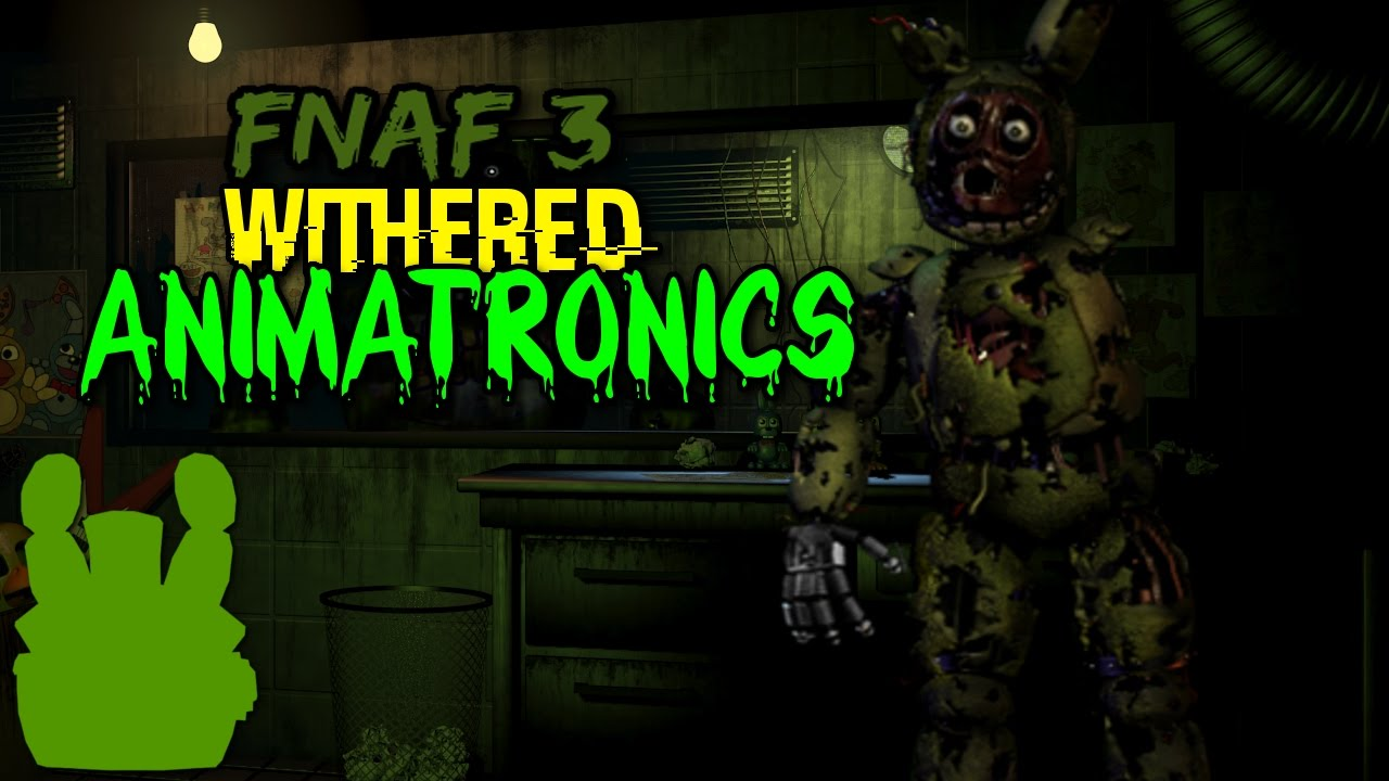 FNAF 3 Withered Animatronics | FNAF SPEEDEDITS