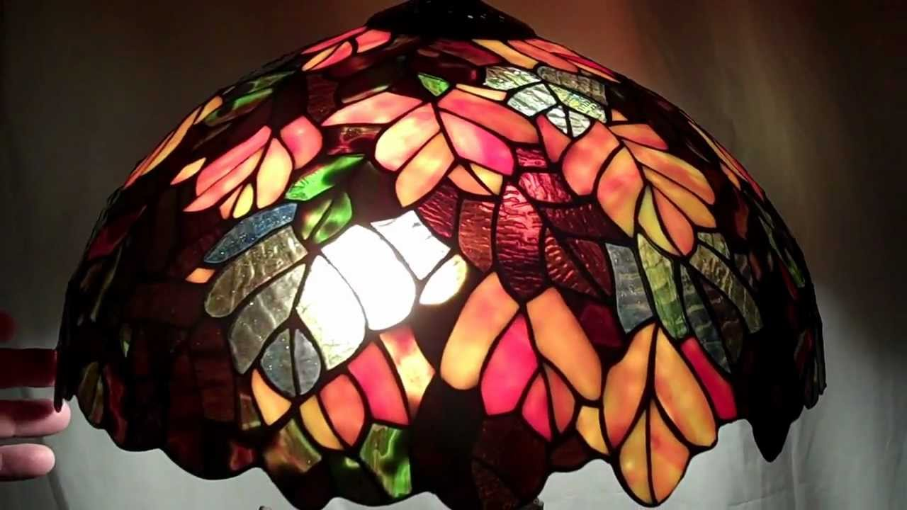 Tiffany Lampen Outlet : Tree style tiffany table lamp youtube