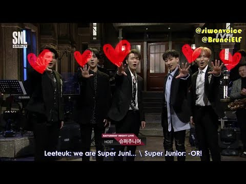 [ENGSUB] 171111 tvN SNL9 with Super Junior - Black Suit + group introduction