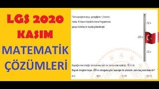 2020 LGS KASIM Ayı Matematik Örnek Soruları Çözümleri