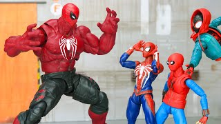 SpiderMan Top 10 Fights & Web Swinging in Spider-verse Figure Stopmotion