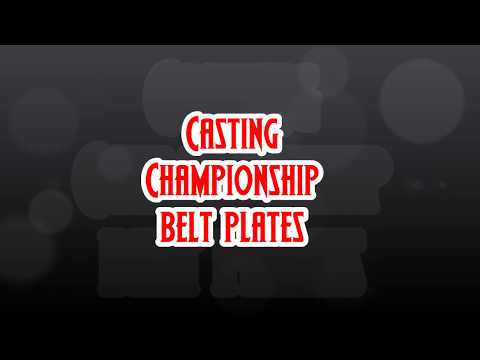 Casting Championship Belt plates