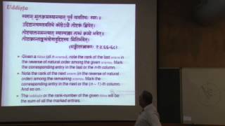 Mathematics of Prastaras in Indian Music (Prof. Mandyam Srinivas)