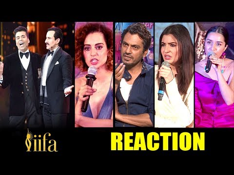 Bollywood Celebs Reaction On Kangana's Nepotism INSULT At IIFA Awards 2017 By Varun,Karan & Saif