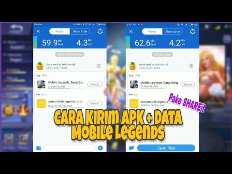 Cara kirim Game + Data Mobile Legends dengan Shareit