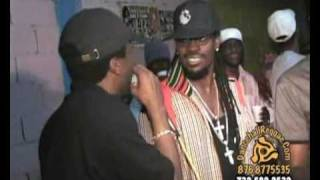 Show on the Global riddim with Fire Links, Beenie Man, Ice (RIP), unknown local man and Shelly Belly