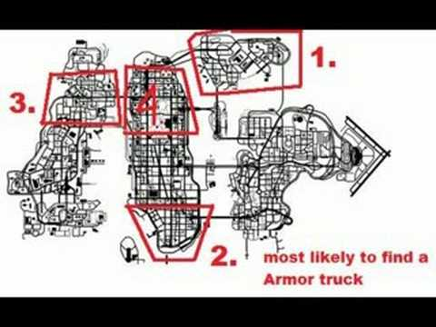 gta iv quick money armor truck locations youtube. Black Bedroom Furniture Sets. Home Design Ideas