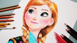 How To Draw Princess Anna From Frozen Step By Step  Drawing For Kids Princess Anna