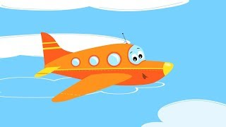 песни для детей - Самолет ✈ Веселые развивающие мультики и песенки про самолет, вертолет, ракету
