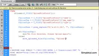 Http://siteezy.com/ - in this tutorial you will learn how to upload files using php a specific directory on your server. also cover che...