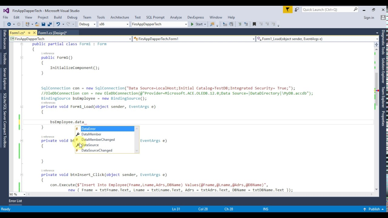 C# Dapper For Beginners Using Stored Procedures Select Query Part 7