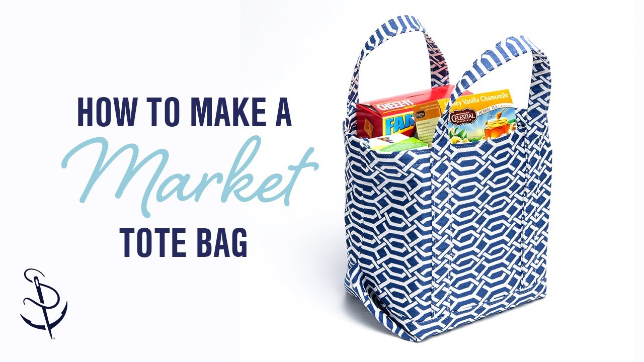 How to Make a Market Tote Bag - YouTube