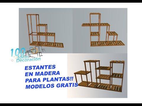 ESTANTES EN MADERA PARA PLANTAS GRATIS!!