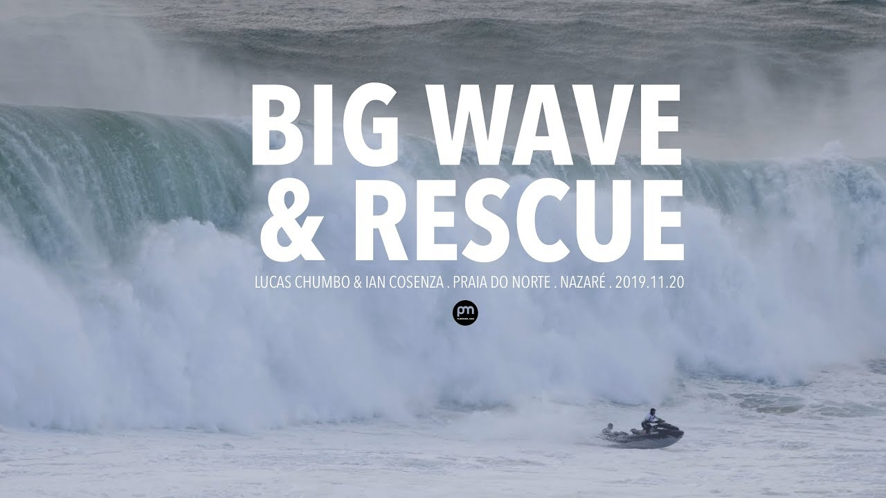 An Incredible Rescue . Raw Footage @ Nazaré, Portugal - 2019.11.20 [Surf, Big Waves, 4K]
