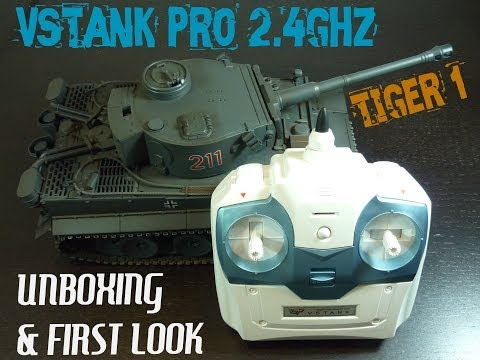 Tiger 1 RC VSTank Pro 2.4ghz Unboxing & First Look