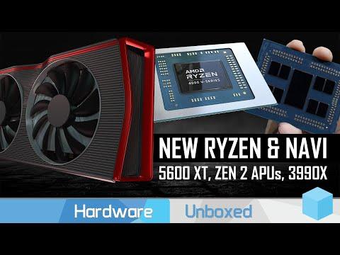 AMD Details $279 RX 5600 XT, 8-Core Ryzen APUs, and Threadripper 3990X Pricing