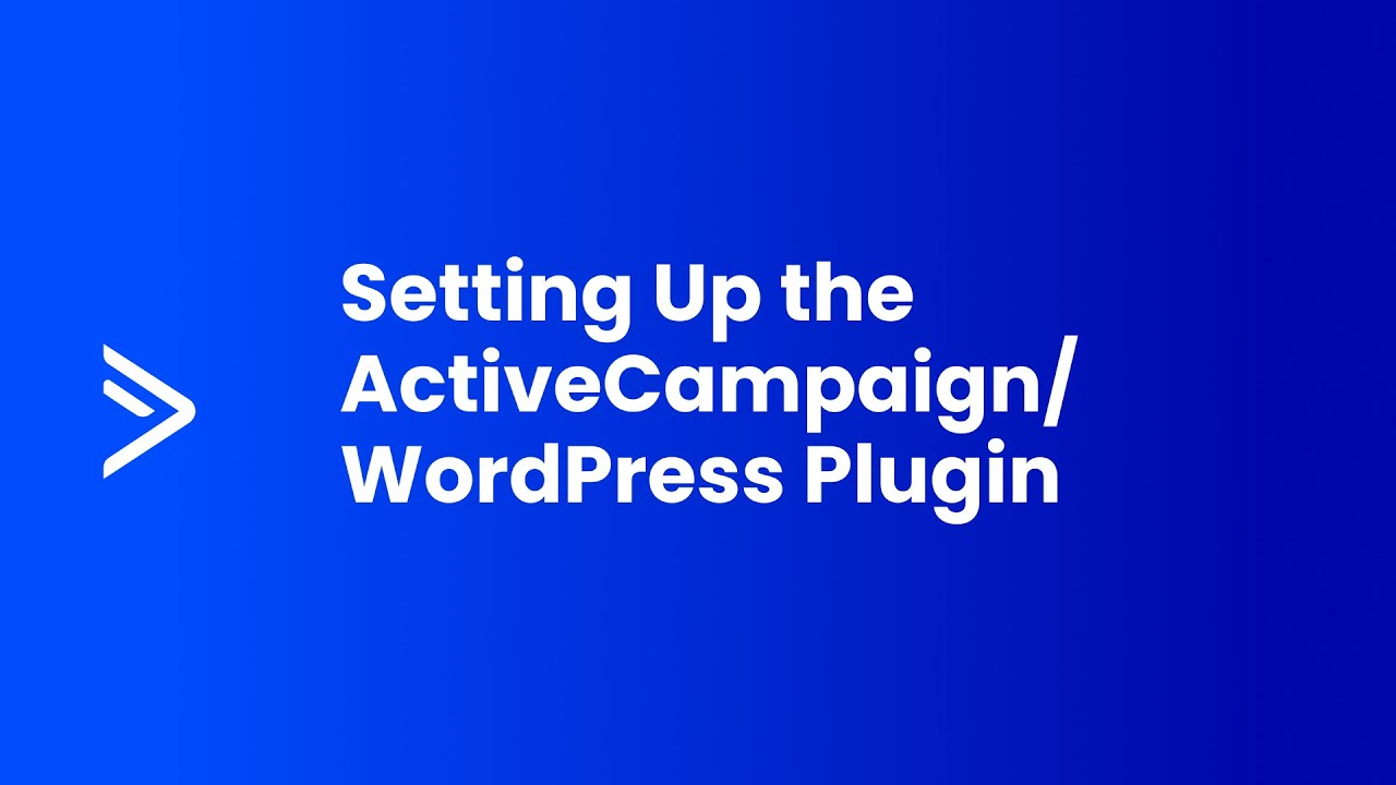 ActiveCampaign Wordpress Plugin