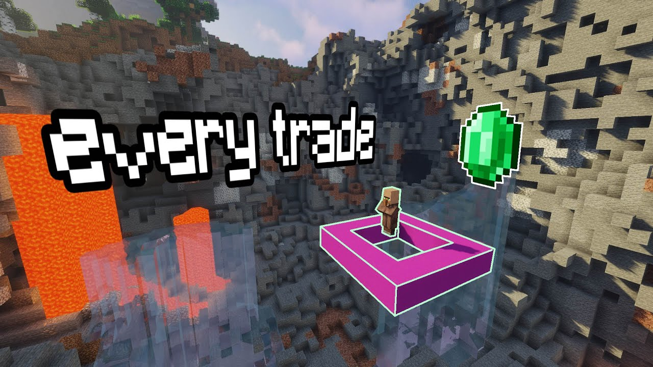 Every Villager Trade For One Emerald Mending Diamond Tools Armor Etc Minecraft Tutorial
