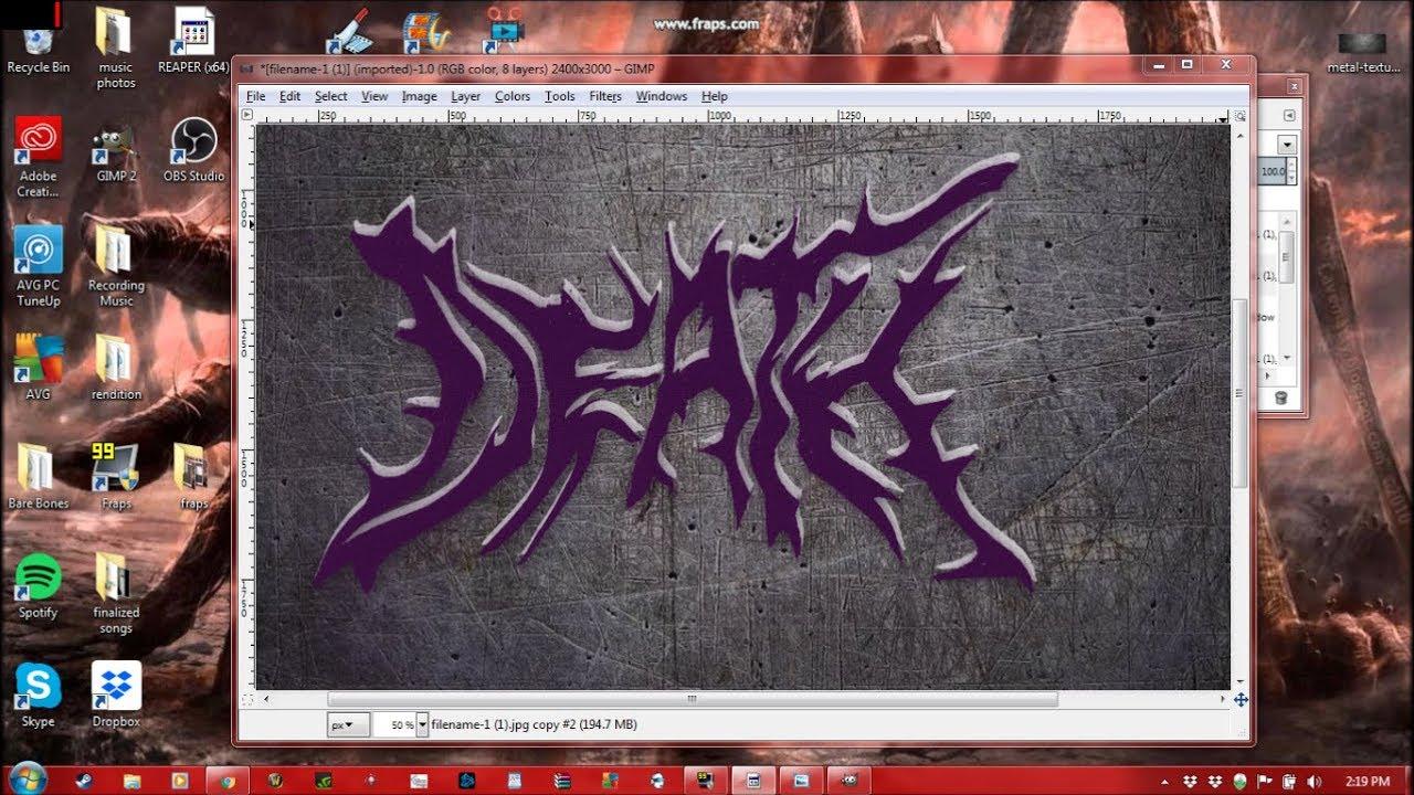 Deathcore/Death metal logo maker tutorial