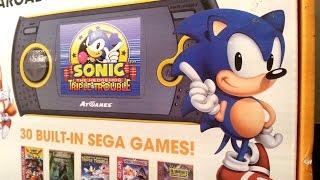 Classic Game Room - SEGA ARCADE GAMER PORTABLE AtGames handheld review