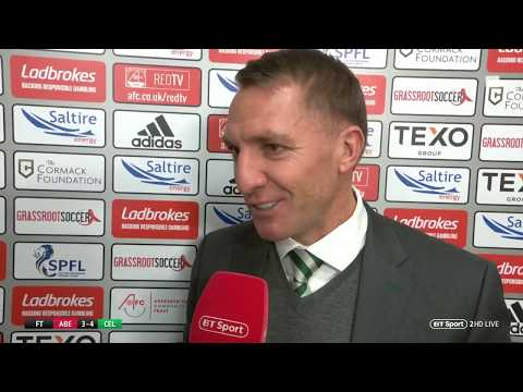 """It was a good dive..."" Brendan Rodgers reacts to a controversial penalty 