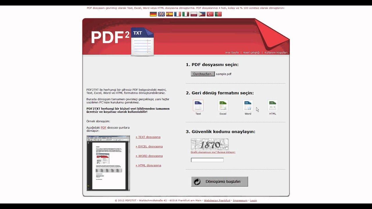 Dönüşüm nedir PDFye dönüştür