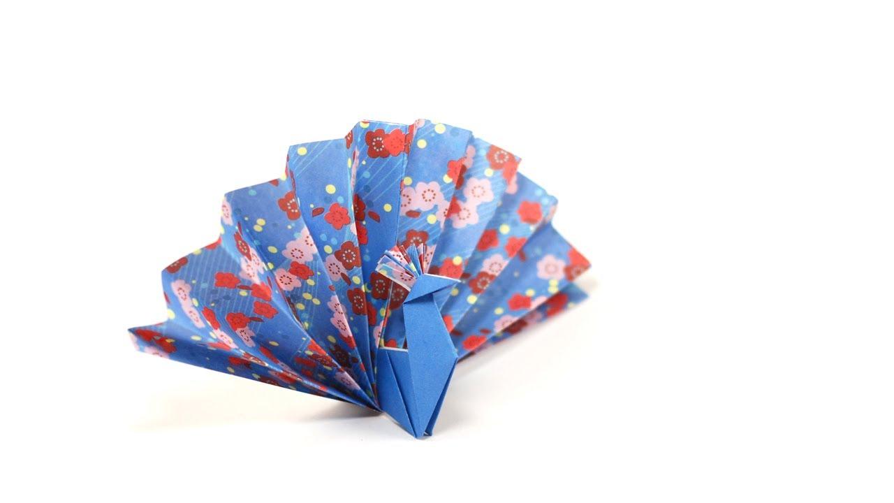 origami facile paon